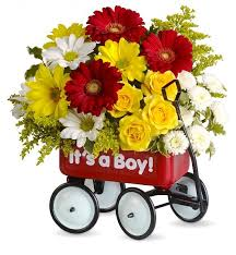 baby flowers baby s wagon flower bouquets an adorable keepsake w