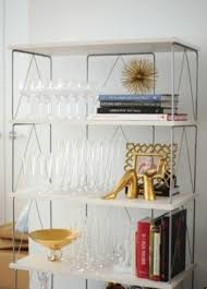 Container Store Bookcase Glass Shelf Etagere Foter