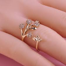 finger ring designs for luxury copper wedding rings butterfly flower ring design