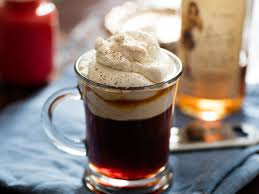 Salt In Coffee Everything Nice Spiced Rum Coffee With Butterscotch Whipped Cream
