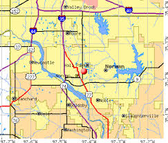 oklahoma zip code map map of norman ok my
