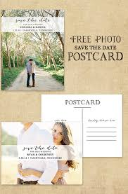 photo postcard save the date free printable