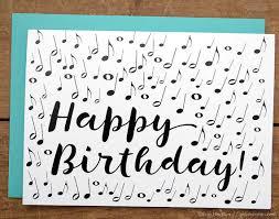 music note birthday card musician birthday card music