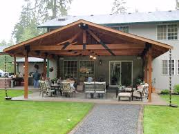 Gable Patio Designs Style Open Gable Patio Cover Plans Grande Room Tips For Build