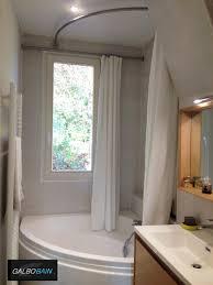 lapeyre baignoire barres rideau de pour baignoire devant une fenêtre galbobain