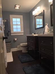 bathroom colors choosing the right bathroom paint colors love these blue gray walls paint color wall ovation behr marquee