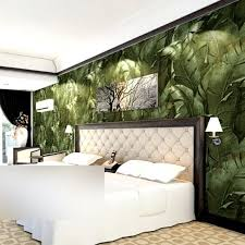 3d nature banana leaf wallpaper green vinyl waterproof wall paper