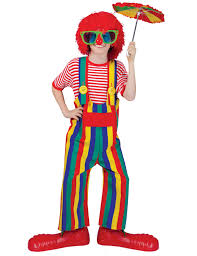 clown costumes unisex striped overalls clown costume kids costumes