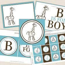 giraffe baby shower decorations giraffe boy printable baby shower decorations lil sprout greetings
