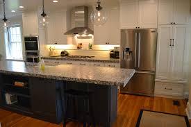 blue kitchen cabinets brown granite 75 beautiful kitchen with blue cabinets and granite
