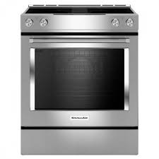 black and white appliance reno kitchenaid 30 slide in electric downdraft range stainless steel