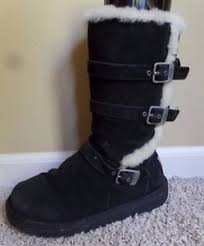 womens ugg maddi boots ugg australia maddi buckle boots 1001520 black s 5 ebay