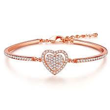 rose gold crystal bracelet images J fee guardiance of love heart rose gold bracelet swarovski jpg