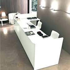 salon front desk furniture front desk furniture marque reception desk with front triple station