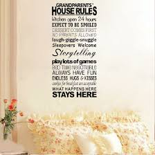 online get cheap words quote wall stickers aliexpress new wall lettering words quotes grandparents house rules art stickers