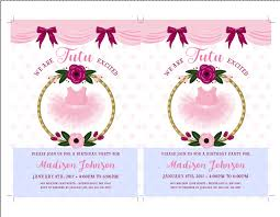 tutu birthday invitations ballerina party invitations ballerina