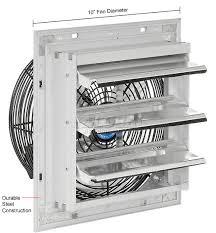 maxxair heavy duty 14 exhaust fan exhaust fans ventilation exhaust fans shutter guard mount