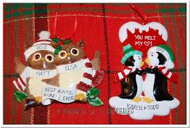3 garnets 2 sapphires 2012 personalized tree ornaments