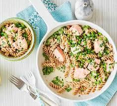 cuisine pasta pasta with salmon peas recipe food