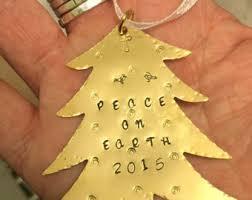 brass tree ornament etsy