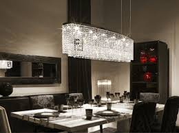 dining room crystal chandeliers modern contemporary luxury linear island dining room double f