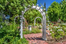 English Garden Pergola by Entrance To An English Rose Garden Stock Photo Picture And
