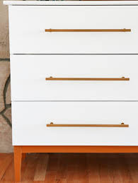 Ikea Drawer Pulls by Mid Century Modern Dresser Diy From Ikea Hack