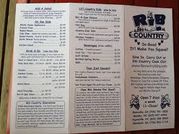 rib country menu menu for rib country blairsville blairsville