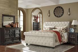 ashley king bedroom sets cool sleigh bedroom set willenburg linen queen upholstered bed from
