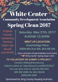 spring clean help clean up white center u2013 volunteers needed for annual spring