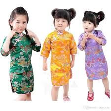 new year baby clothes 2018 new year baby dress tribute silk kids