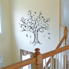 tree u0026 leaves silhouette wall quotes wall art decal wallquotes com