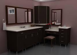 2013 bathroom design trends bathroom modern corner bathroom makeup vanity with large framed