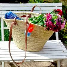 Beach Basket Personalised Beach And Shopping Bag By Jane De Bono Textiles