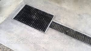 4 Floor Sink by Garage Floor Drainage System By Concrete Innovations Youtube