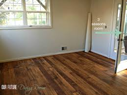 Dark Wide Plank Laminate Flooring Linoleum Wood Flooring Faux Hardwood We Went With A Textured