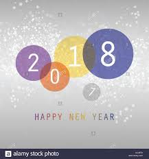 best wishes simple colorful abstract modern style happy new year