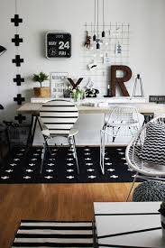 Design My Office Workspace Black White Pattern Rug For Teen Girls Study Area My Office