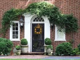 front doors red brick house wood front door large image for fun