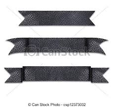 leather ribbon stock photos of black leather use as a label ribbon csp12373032
