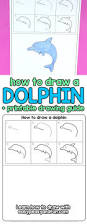 how to draw a dolphin step by step for kids printable easy