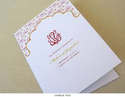 indian wedding programs ganesh indian wedding program hindu wedding imbue you