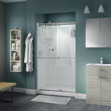 Bathroom Shower Doors Home Depot by Delta Crestfield 48 In X 71 In Semi Frameless Contemporary