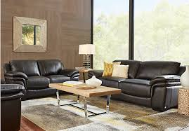 Loveseat Black Leather Cindy Crawford Home Grand Palazzo Black Leather Loveseat Leather
