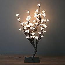 creative motion desktop cherry blossom tree light table top desk