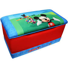 mickey mouse clubhouse flip open sofa with slumber disney mickey mouse clubhouse deluxe toy box addison s first