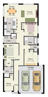 Narrow Home Floor Plans by 19 Best Narrow Block Plans Images On Pinterest Architecture