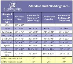 Twin Xl Comforter Measurements Standard Quilt Sizes Chart King Queen Twin Crib And More