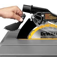 dewalt jobsite table saw accessories dewalt dwe7490x 10 inch job site table saw with scissor stand top