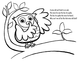 baby boy owl coloring pages